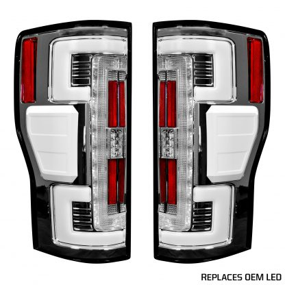 Ford Super Duty F250/350/450/550 17-19 Tail Lights OLED in Smoked