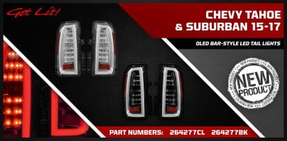 Chevy Tahoe & Suburban 15-17 oled bar-style led tail lights banner