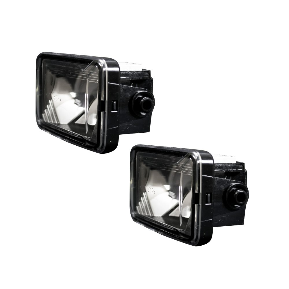 Ford Super Duty 15-19 & 17-19 White LED 2-Piece Fog Lights Set in Smoked & Black