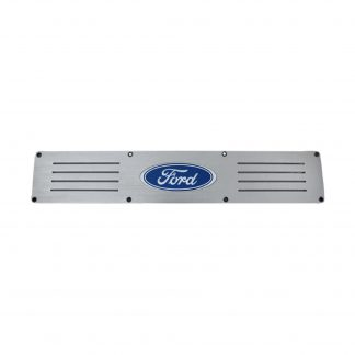 Ford Super Duty 99-16 Illuminated Door Sill Fits 4-Door Super Crew Rear Doors Brushed Finish Blue