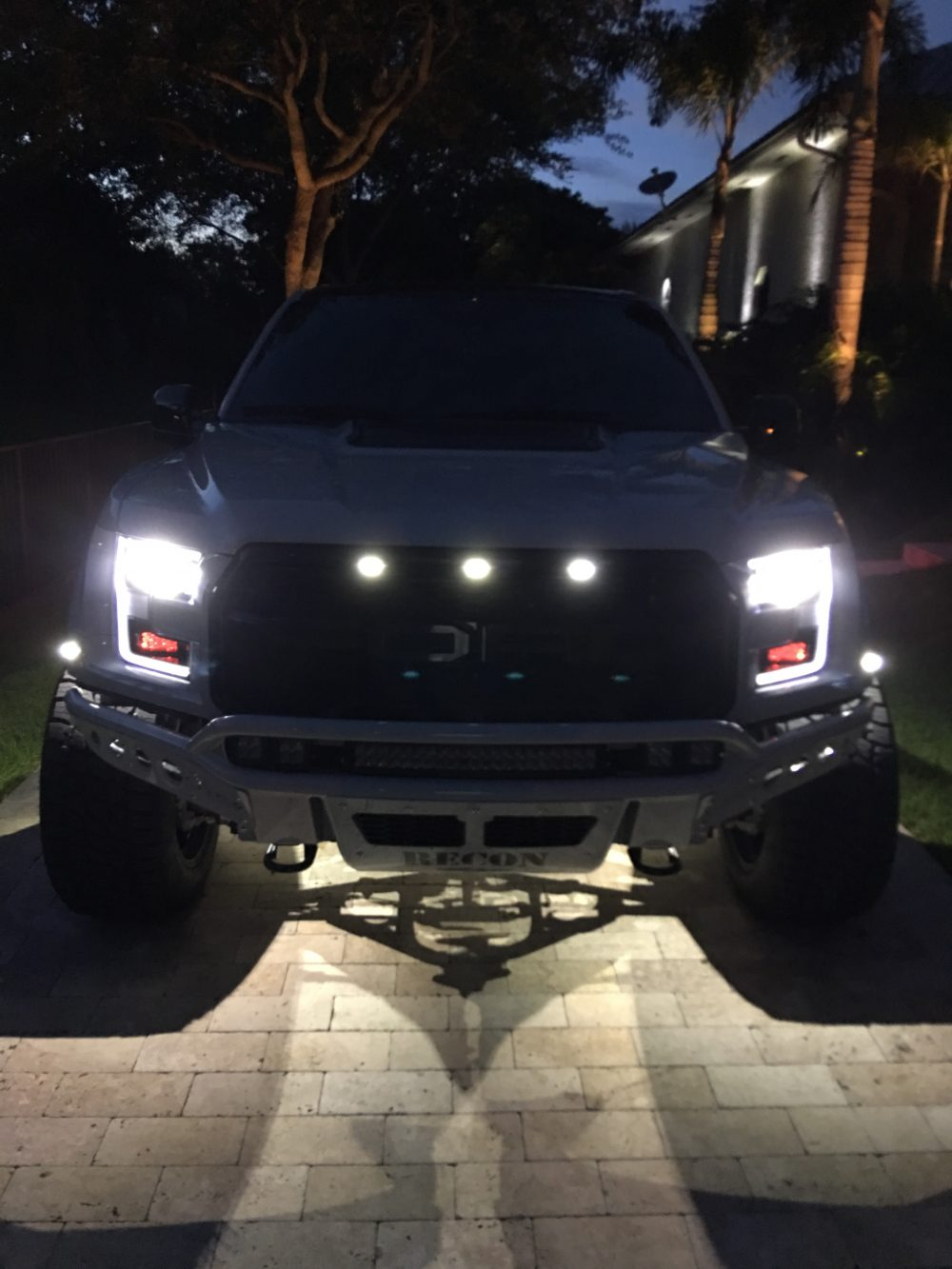 Ford Raptor 09-14 Fender Light Amber & Red LED in Smoked w/ Black Trim