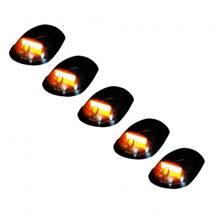 Dodge Heavy-Duty 2500/3500 03-19 5 Piece Cab Roof Light Set OLED Smoked Lens in Amber
