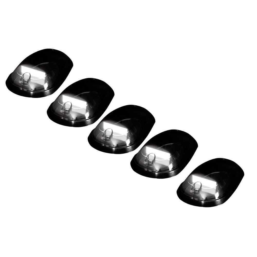 Dodge Heavy-Duty 2500/3500 03-19 5 Piece Cab Roof Light Set OLED Smoked Lens in White