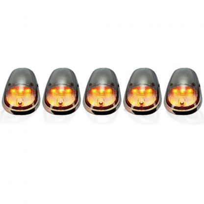 Dodge Heavy-Duty 2500/3500 03-19 5 Piece Cab Roof Lights Set LED Clear Lens in Amber