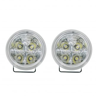 LED Daytime Running Lights Round Housing with Clear Lens