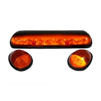GMC & Chevy 02-07 Heavy Duty 3 Piece Cab Roof Light LED Amber Lens in Amber