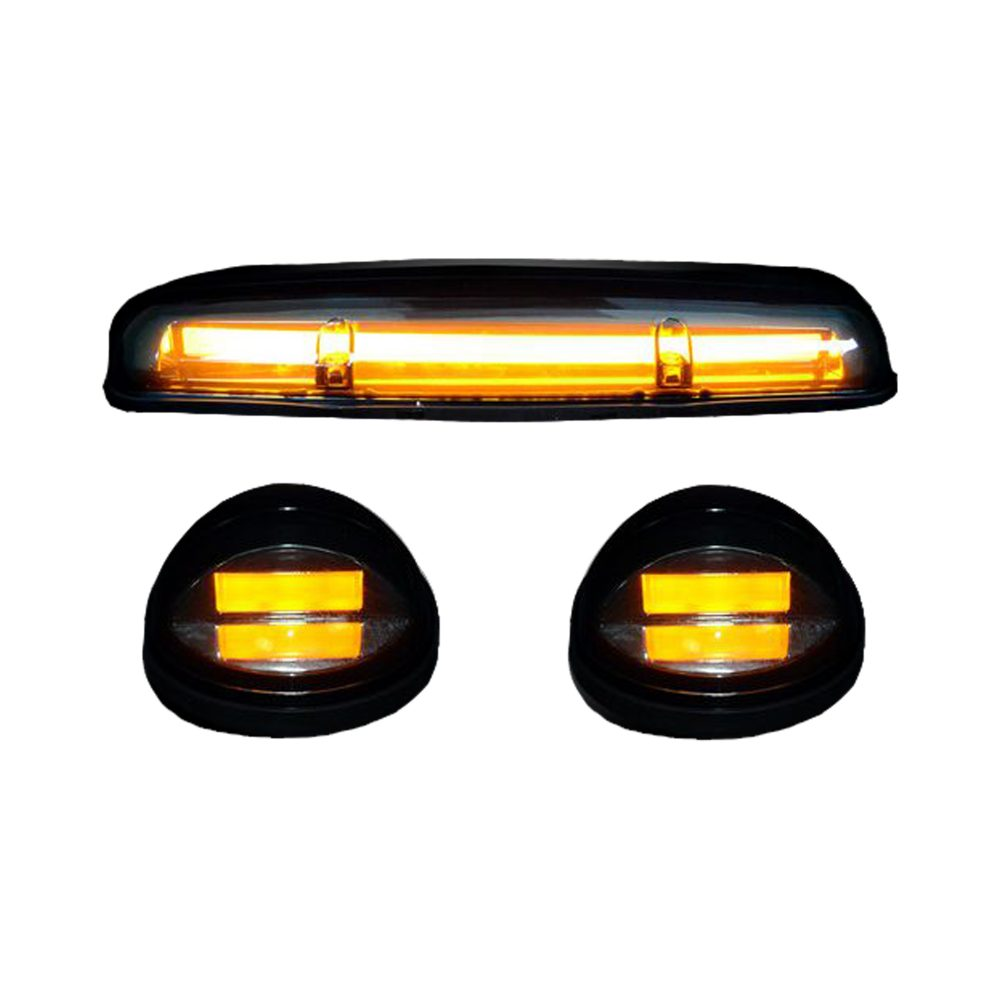 GMC & Chevy 02-07 3 Piece Cab Roof Lights OLED Smoked Lens in Amber