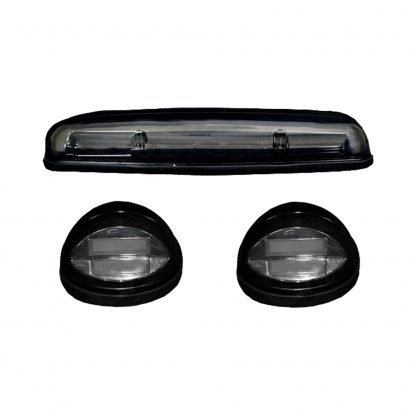 GMC & Chevy 02-07 White High Power OLED Bar Style LED Cab Roof Light Set Clear