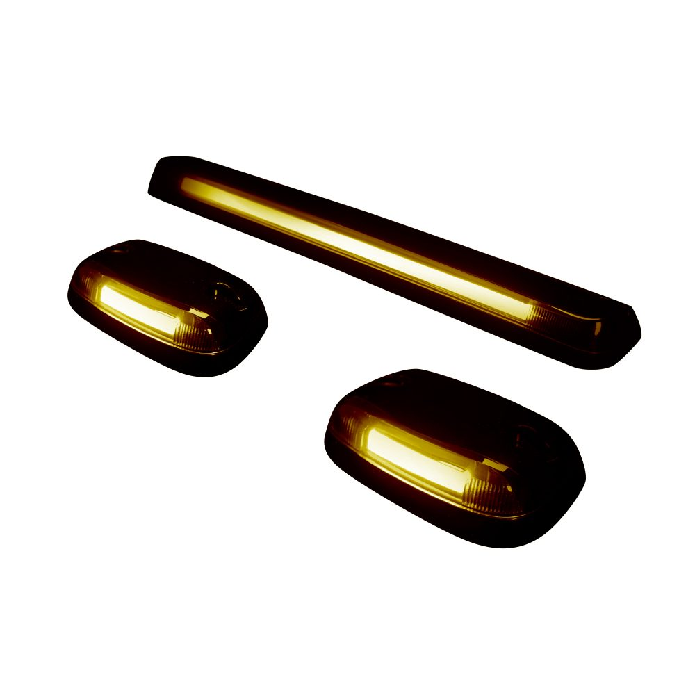GMC & Chevy 07-14 3 Piece Cab Roof Light Set OLED Amber Lens in Amber