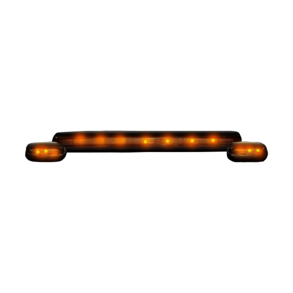 GMC & Chevy 07-14 3 Piece Cab Roof Light Set LED Smoked Lens in Amber
