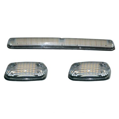 GMC & Chevy 07-04 Smoked Cab Roof Lights LED Clear Lens White & Amber