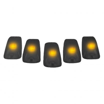 GMC & Chevy 88-02 Amber LED Cab Roof Light 5-Piece Set with Smoked Lens
