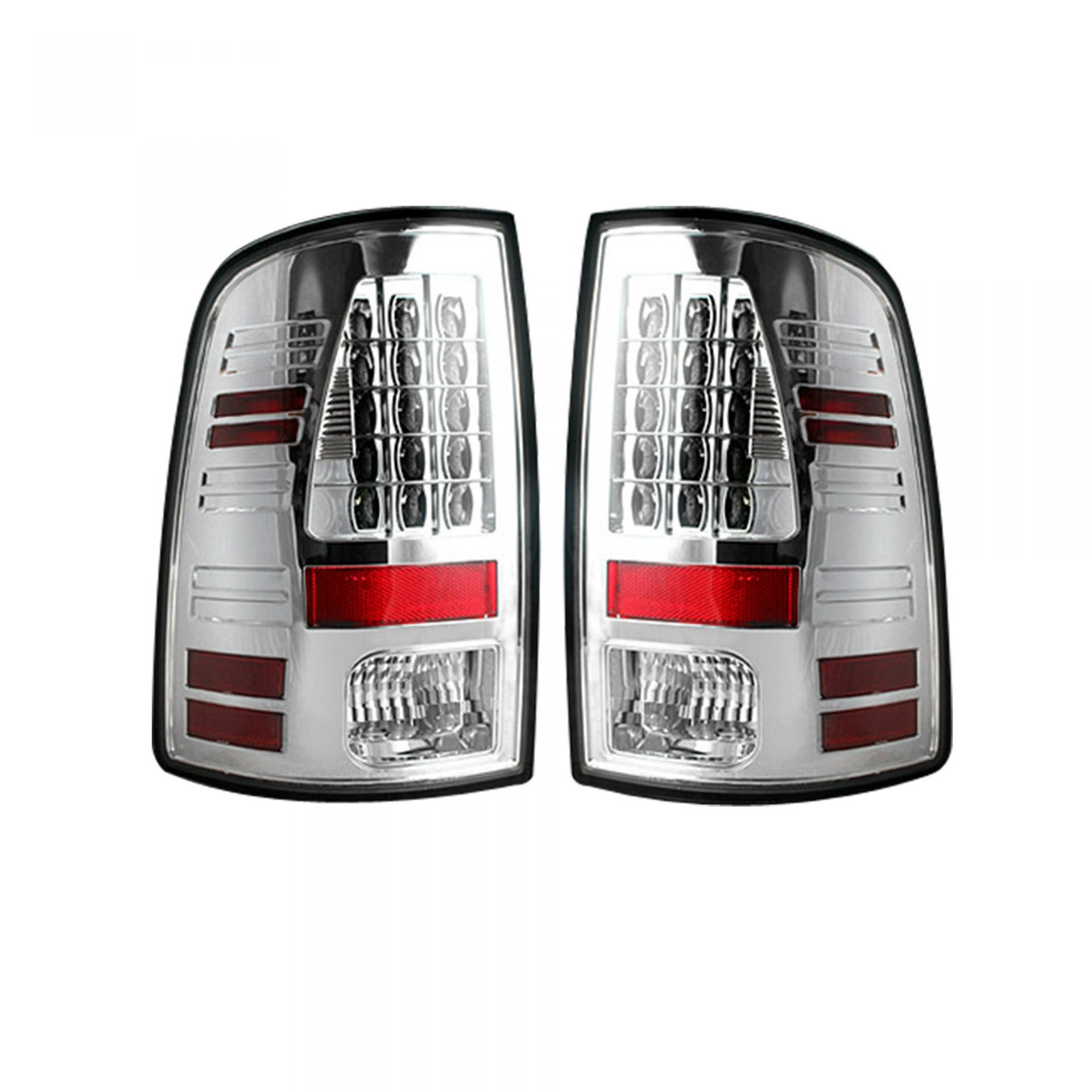 Recon 264169cl Dodge 09 14 Ram 1500 10 2500 3500 Led Tail Lights Replaces Factory Oem Halogen Clear Lens