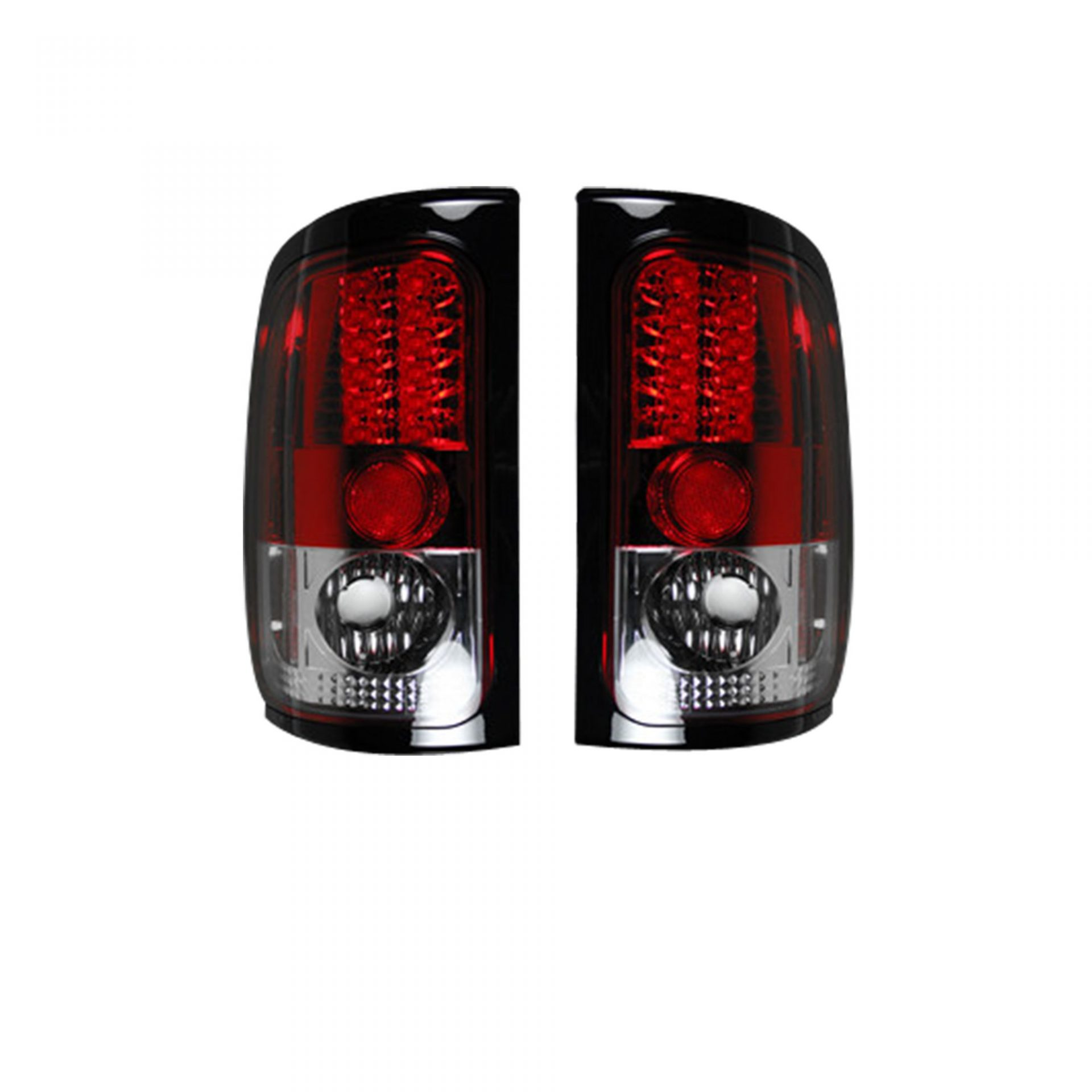 Recon 264170rd Dodge 94 01 Ram 1500 02 2500 3500 Led Tail Lights Red Lens