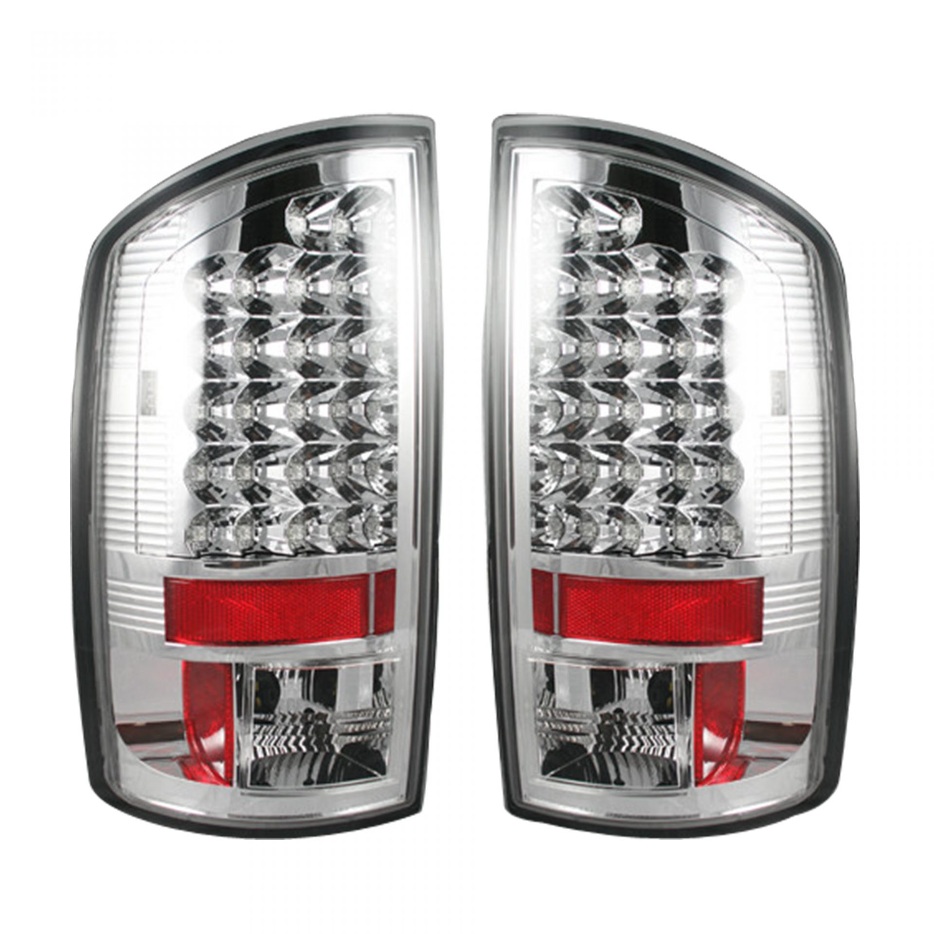 Recon 264171cl Dodge 02 06 Ram 1500 03 2500 3500 Led Tail Lights Clear Lens
