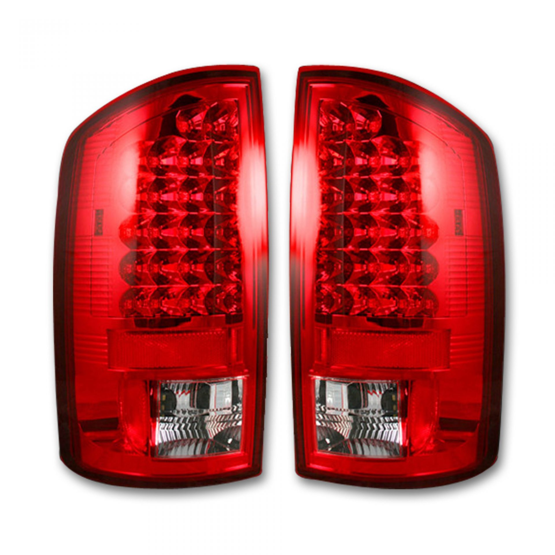 Recon 264171rd Dodge 02 06 Ram 1500 03 2500 3500 Led Tail Lights Red Lens