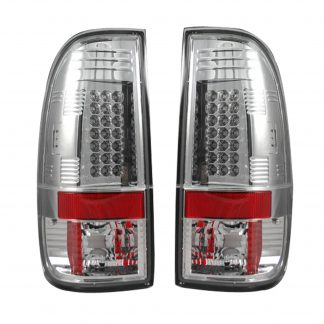 "Ford Superduty F250HD/350/450/550 99-07 & F150 97-03 Straight aka ""Style"" Side LED Tail Lights Clear"