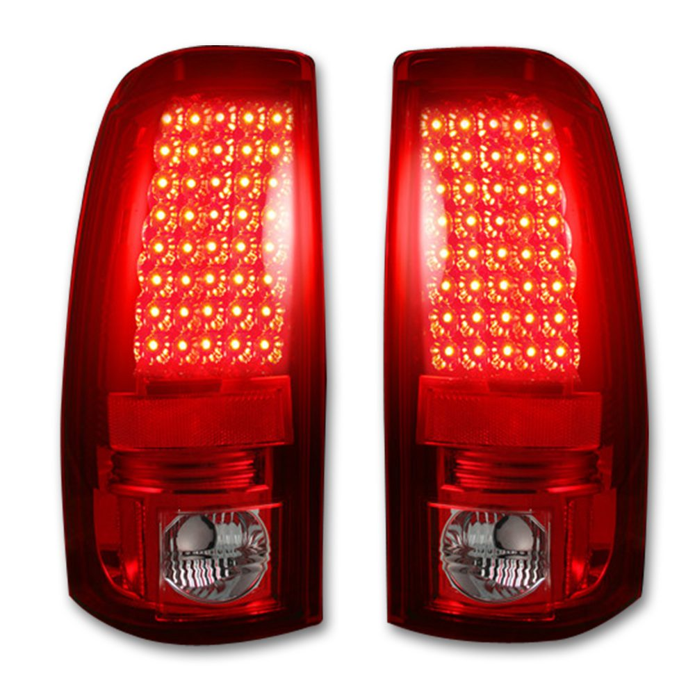Chevy Silverado & GMC Sierra 99-07 Tail Lights LED in Red