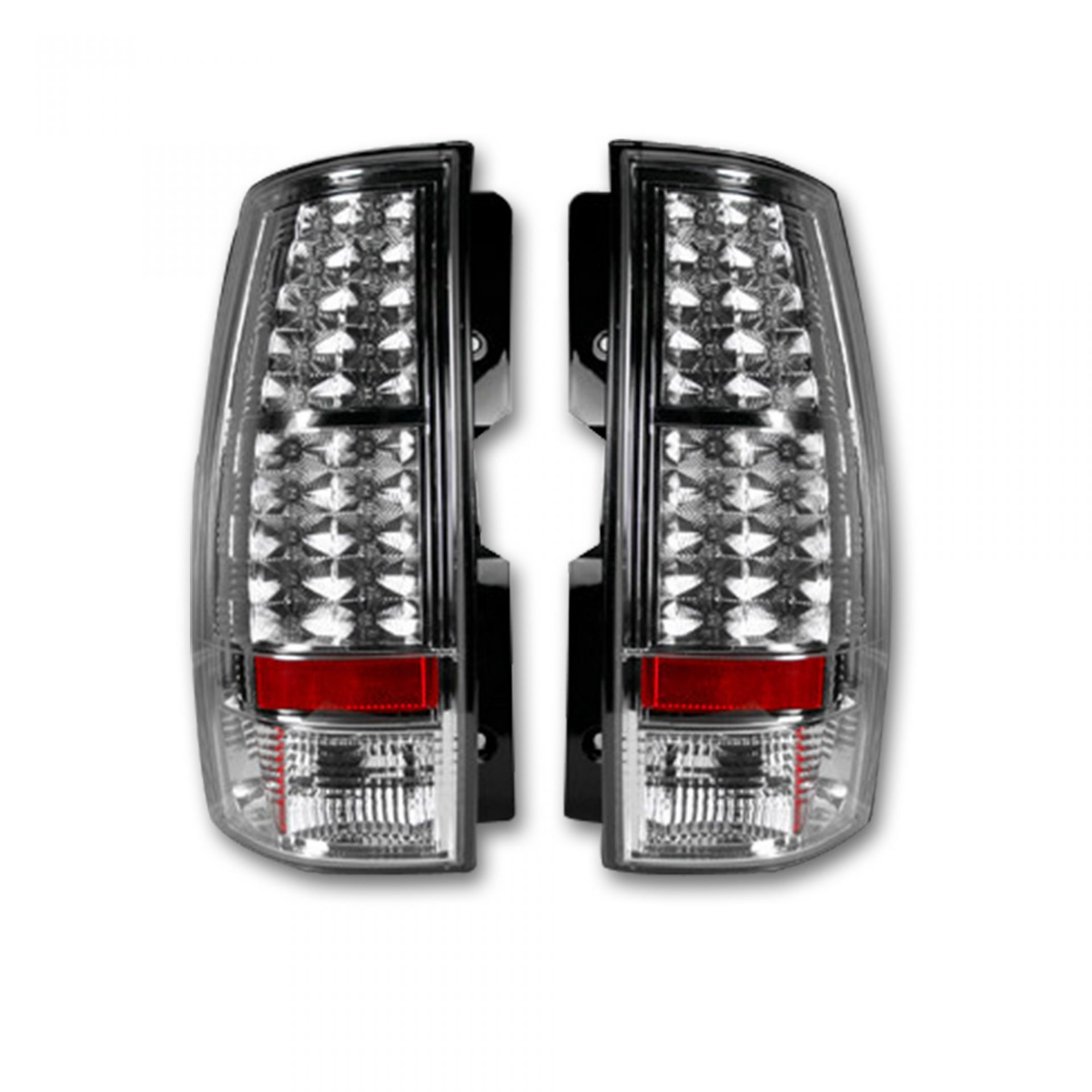 Recon 264174cl Chevy Gmc Tahoe Yukon Suburban Denali 07 11 Led Tail Lights Clear Lens