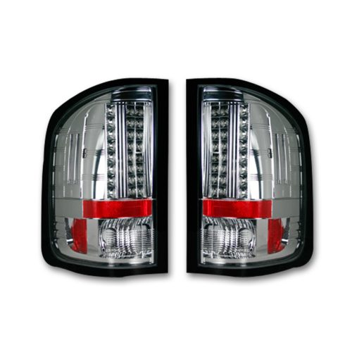 Chevy Silverado Single-Wheel 07-13/Dually 07-14 & GMC Sierra 07-14 Tail Lights LED Clear