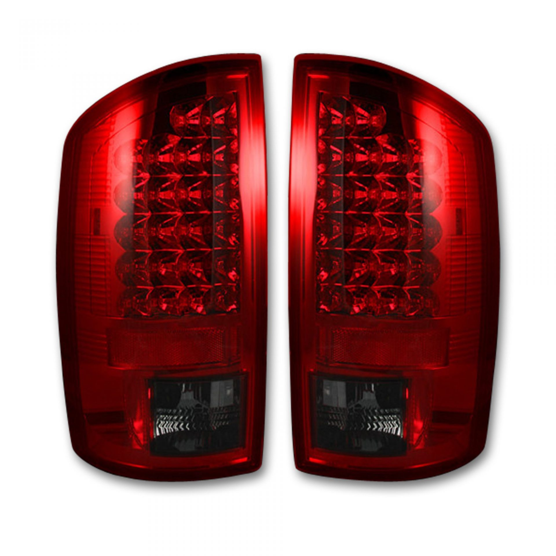 Recon 264179rbk Dodge 07  07  3500 Led Lights Dark Red Smoked Lens