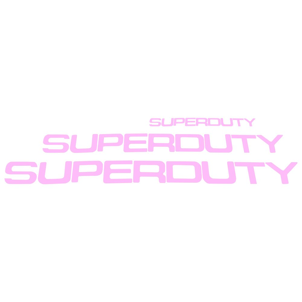 Ford Super Duty 08-16 Acrylic Emblem Inserts in pink