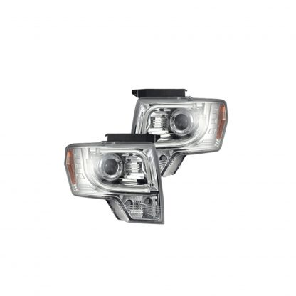 Ford F150 & Raptor 09-14 Projector Headlights OLED Halos & DRL Clear/Chrome