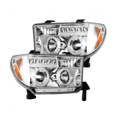 Toyota Tundra & Sequoia 07-13 PROJECTOR HEADLIGHTS - Clear / Chrome