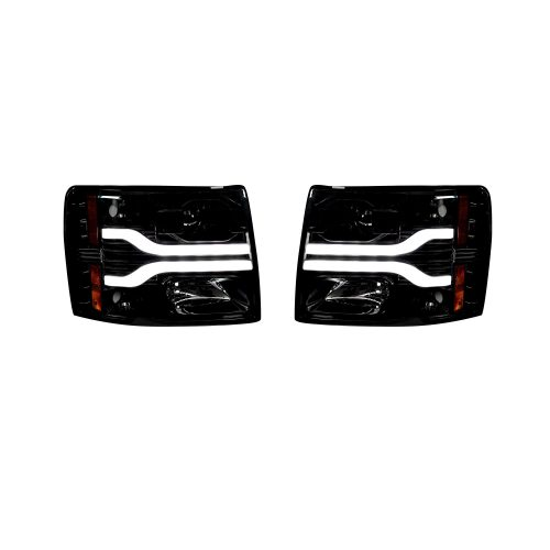 Chevrolet Silverado 07-13 2nd GEN PROJECTOR HEADLIGHTS Smoked / Black