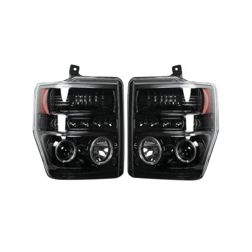 Ford Super Duty 08-10 Projector Headlights CCFL Halos/DRL Smoked/Black