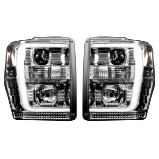 Ford Super Duty 08-10 Projector Headlights OLED Halos DRL Clear/Chrome