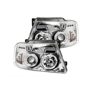 Ford F150 04-08 Projector Headlights in Clear/Chrome
