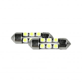 3175 10mm x 31mm Festoon Style High-Power 1-Watt 6 LED Bulbs