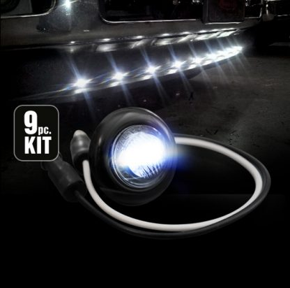 Front Lower Air Dam Light Kit w/ Clear Lens/Chrome Bezel LED in White