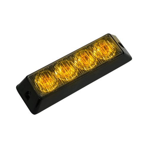 4-LED 19 Function 4-Watt High-Intensity Strobe Light Module w Black Base amber