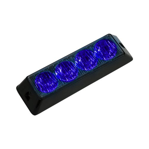 4-LED 19 Function 4-Watt High-Intensity Strobe Light Module w Black Base - Blue Color