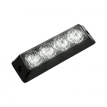 4-LED 19 Function 4-Watt High-Intensity Strobe Light Module w Black Base - White