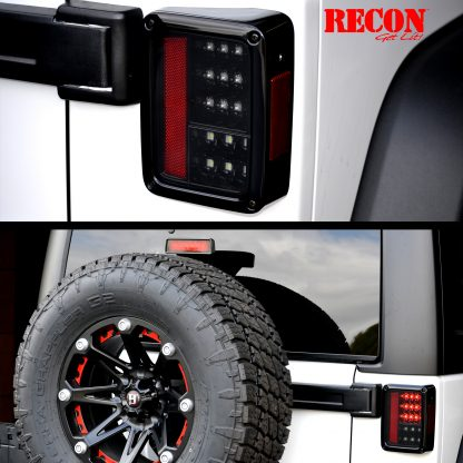 Jeep JK Wrangler 07-18 RED LED 3rd Brake Light - Smoked Lens