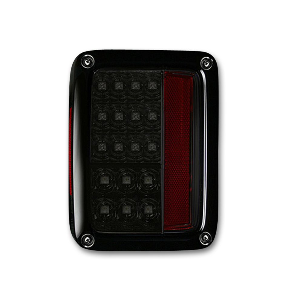 Jeep JK Wrangler 07-18 Tail Lights LED in Smoked