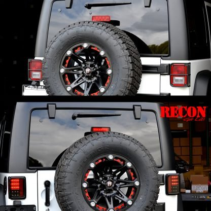 Jeep 07-18 JK Wrangler LED Taillights - Clear Lens