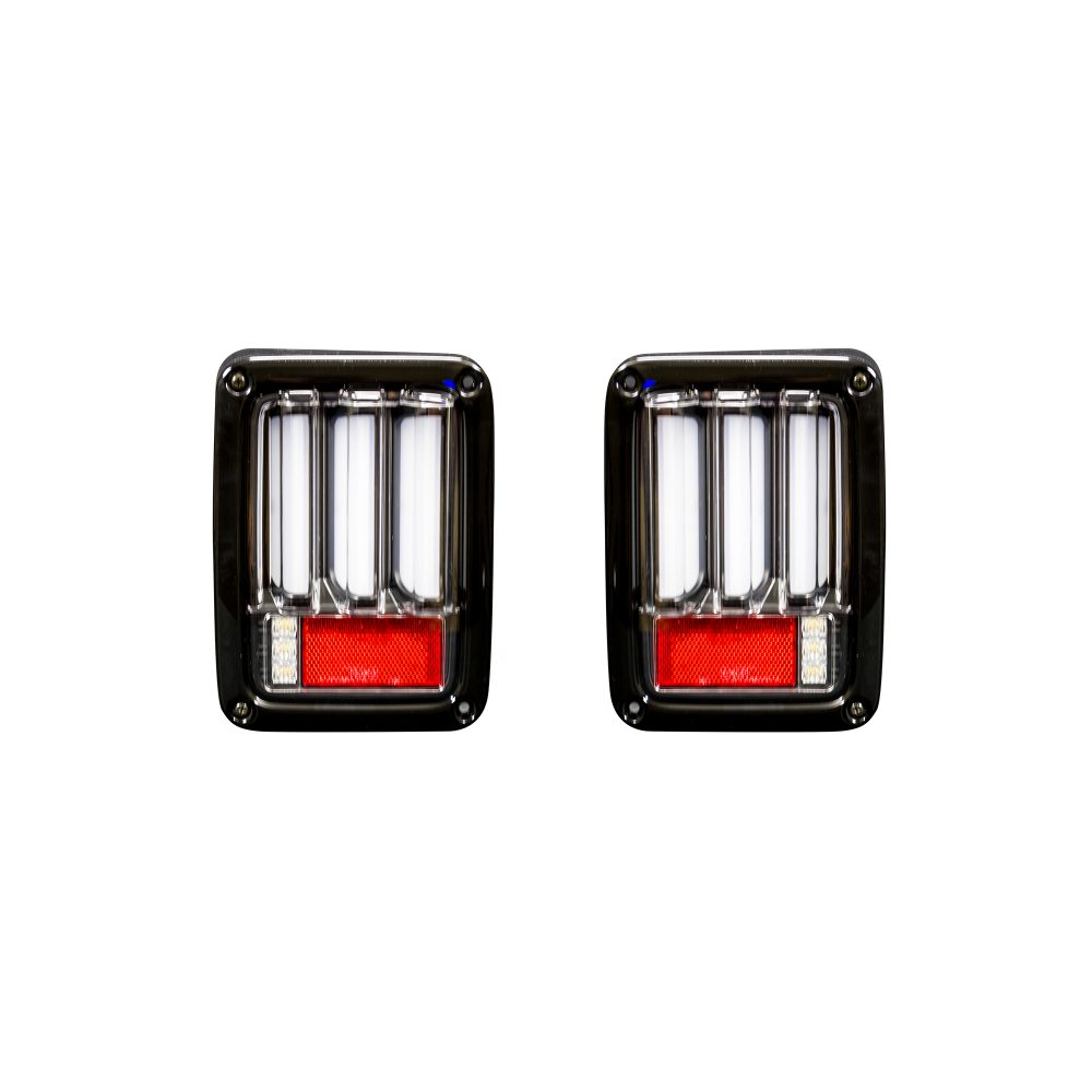 Jeep 07-18 JK Wrangler Scanning OLED Bar-Style LED Taillights - Clear Lens