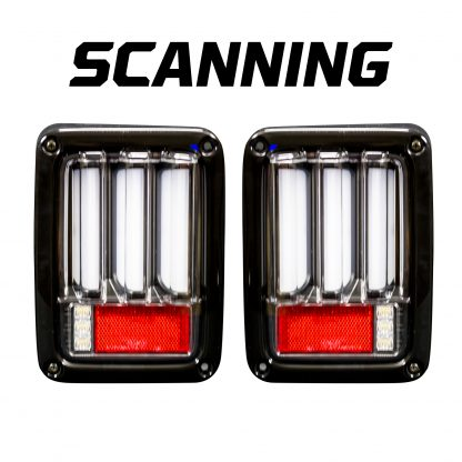 Jeep JK Wrangler 07-18 Tail Lights OLED in Clear
