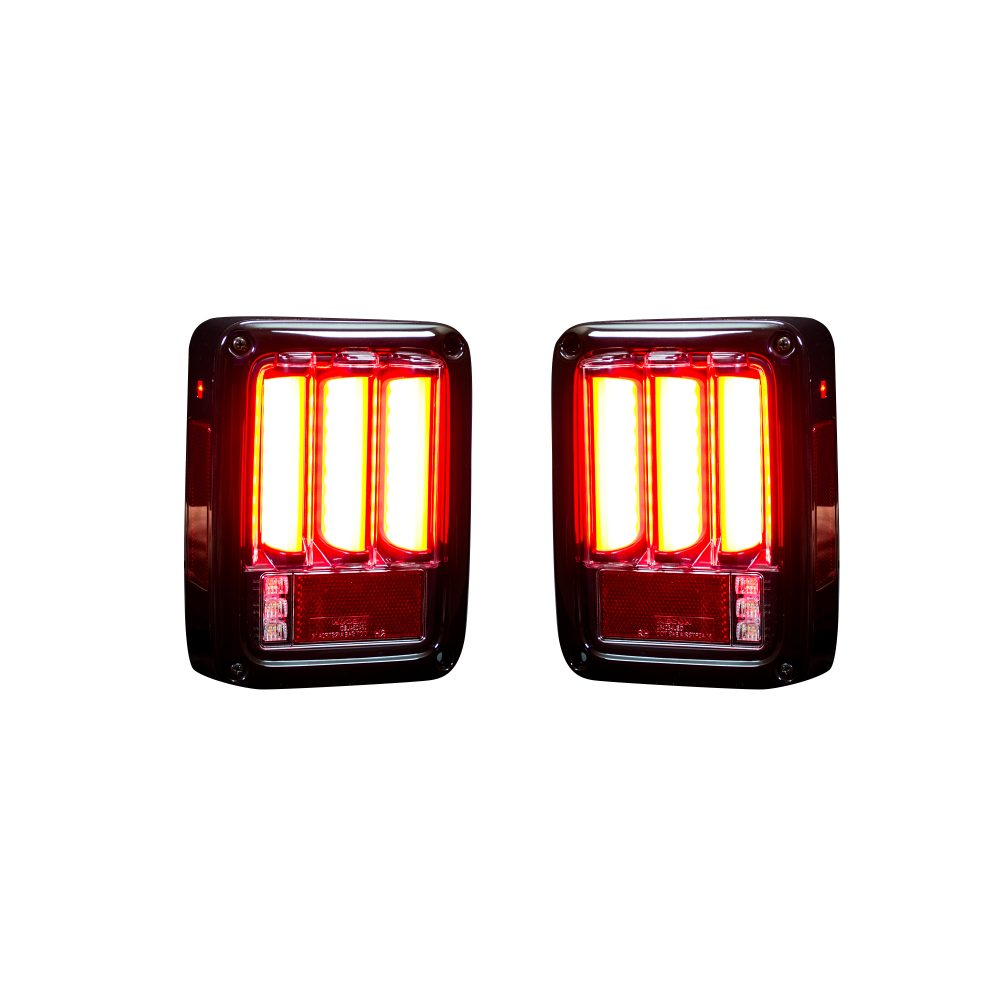 Jeep 07-18 JK Wrangler Scanning OLED Bar-Style LED Taillights - Red Lens
