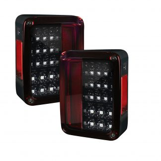 Jeep 07-18 JK Wrangler LED Taillights - Red Smoked Lens