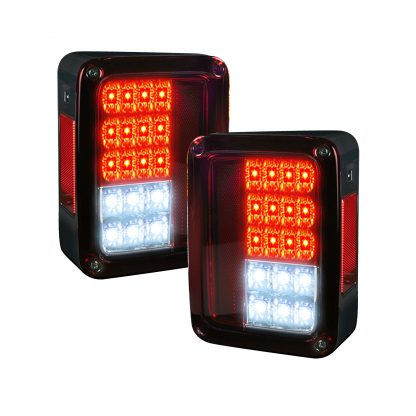 Jeep 07-18 JK Wrangler LED Taillights - Red Lens