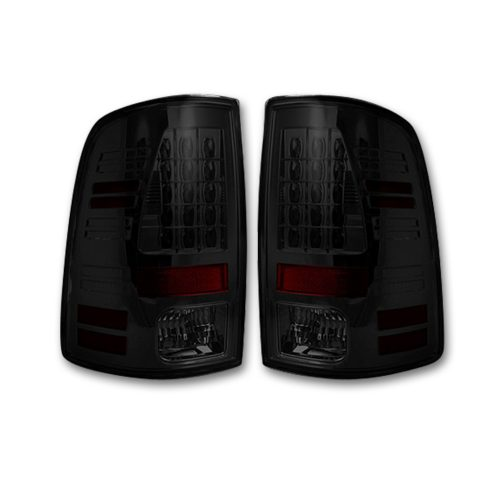 Dodge RAM 1500/2500/3500 13-18 (Replaces OEM LED) Tail Lights LED in Dark Red Smoked