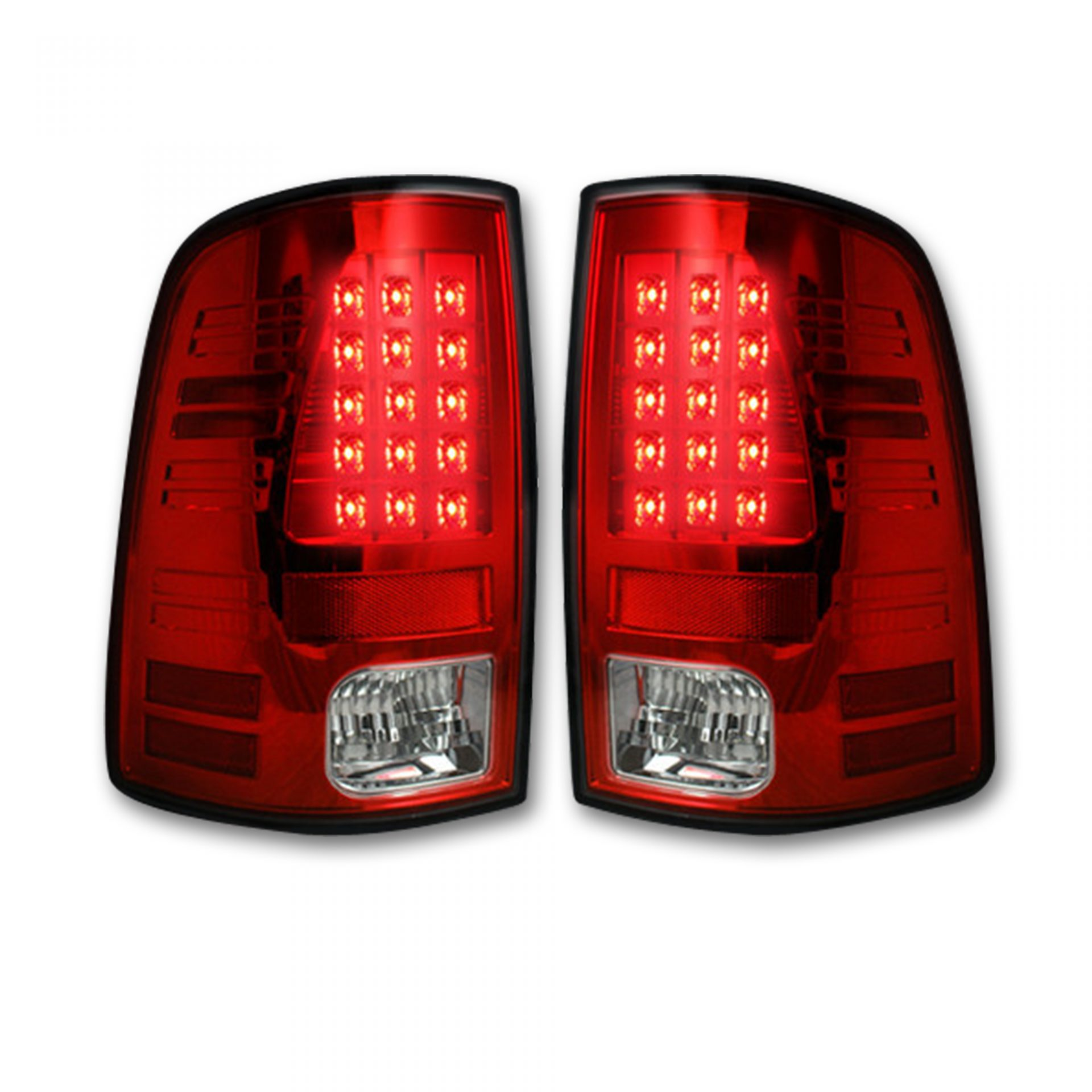 Red Lens After Market Led Tail Lights Dodge Ram 13 17