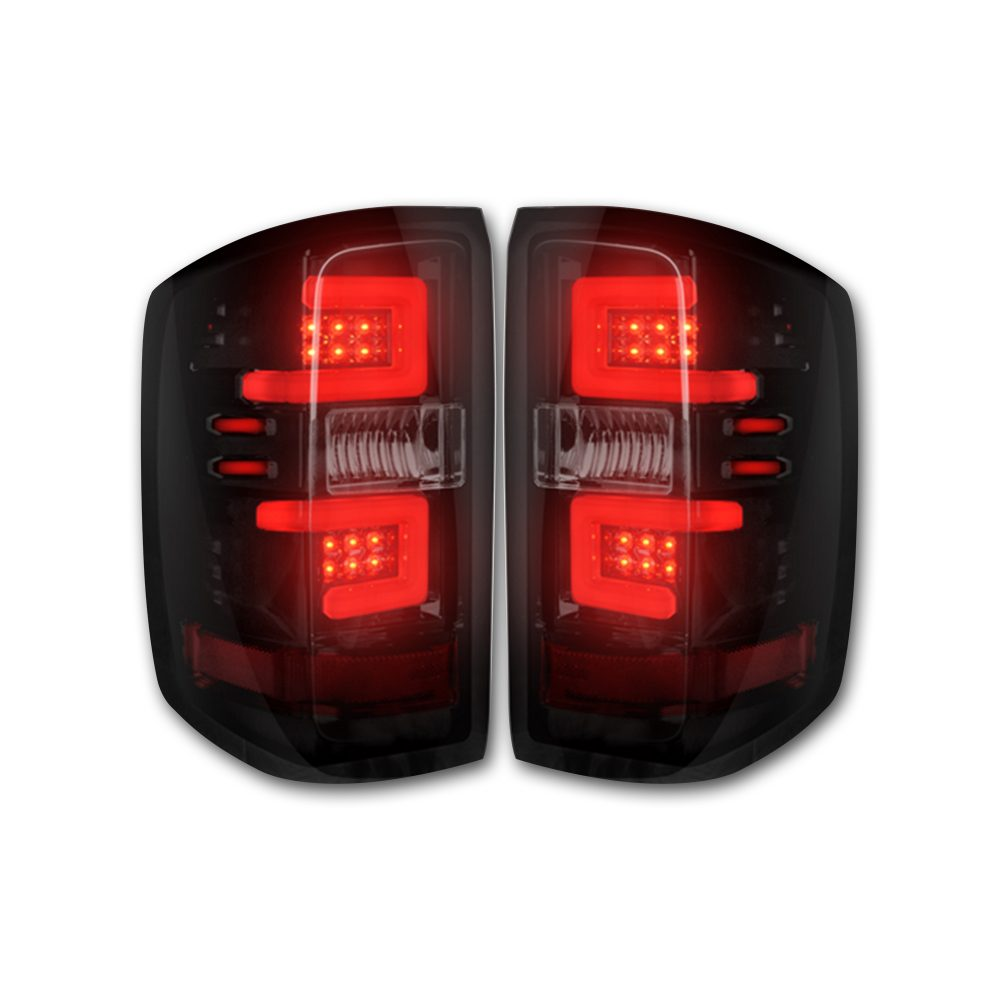 Chevy Silverado 1500 14-18 & 2500/3500 14-19 Tail Lights OLED in Smoked