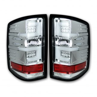 Chevy Silverado 1500 14-18 & 2500/3500 14-19 Tail Lights OLED in Clear