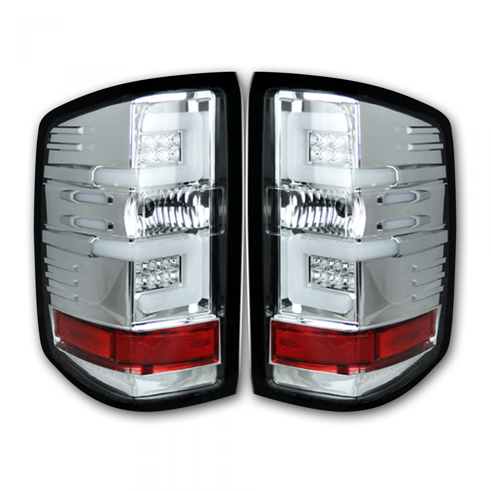 Recon 264297cl Chevy Silverado 16 17 1500 2500 3500 Replaces Factory Oem Led Tail Lights Only Also Fits Gmc Sierra 15 Dually Body Style With
